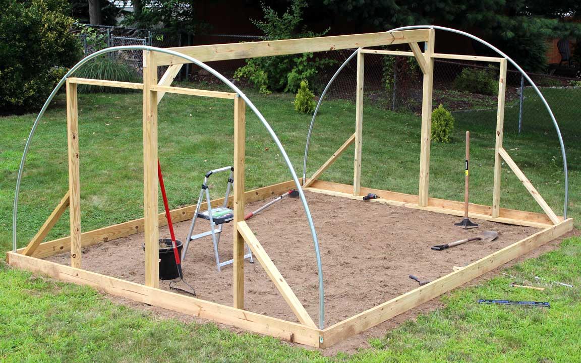 Diy Hoop House Greenhouse Design And Build Mr Crazy Kicks