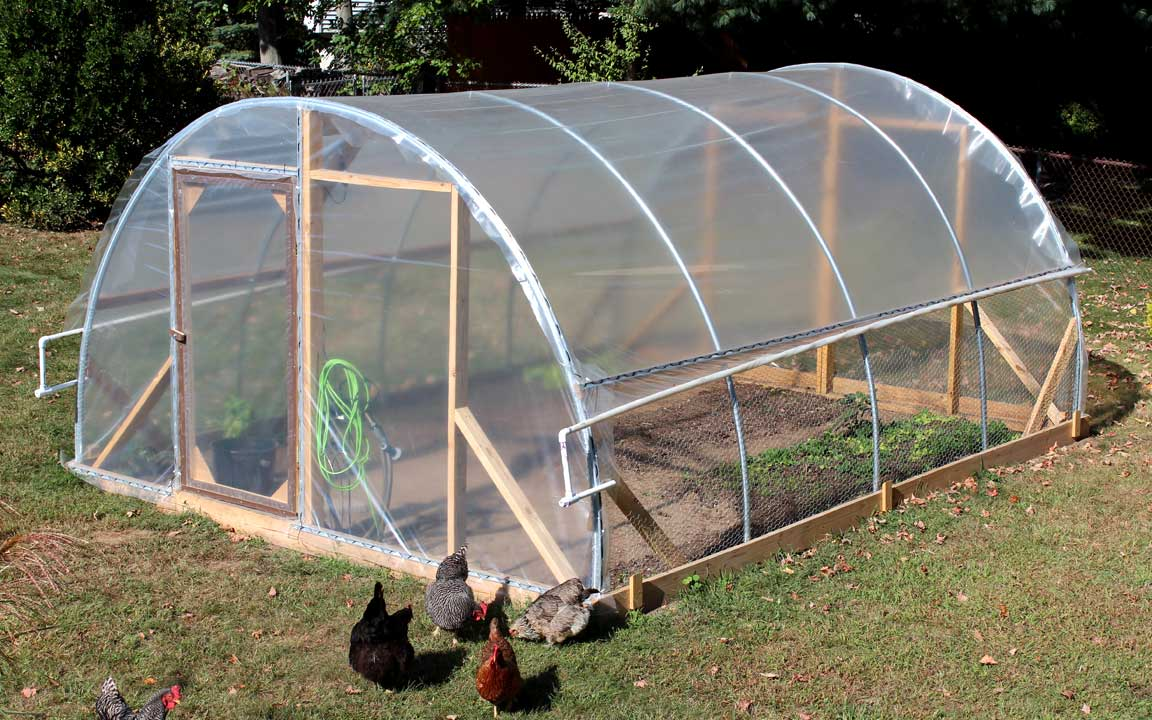 Diy pvc hoop house plans for How to make house green